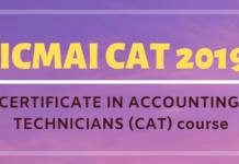 ICMAI CAT 2019 - Certificate in Accounting Technicians