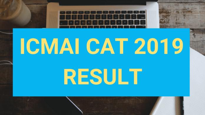 ICMAI CAT 2019 Result