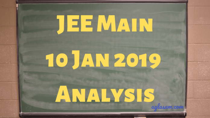 JEE Main 10 Jan 2019 Analysis