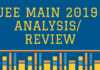 JEE Main 2019 Analysis