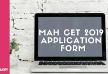 MAH CET 2019 Application Form