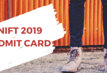 NIFT 2019 Admit Card