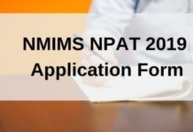 NMIMS NPAT 2019 Application Form
