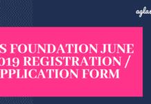 CS Foundation June 2019 Registration
