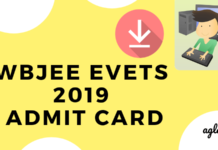 wbjee evets 2019 admit card