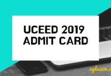 UCEED 2019 Admit Card