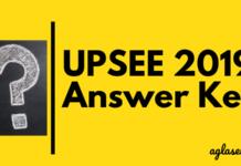 UPSEE 2019 Answer Key