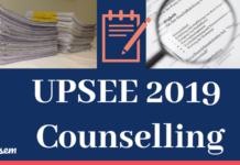 UPSEE 2019 Counselling