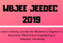 WBJEE JEEDEC 2019