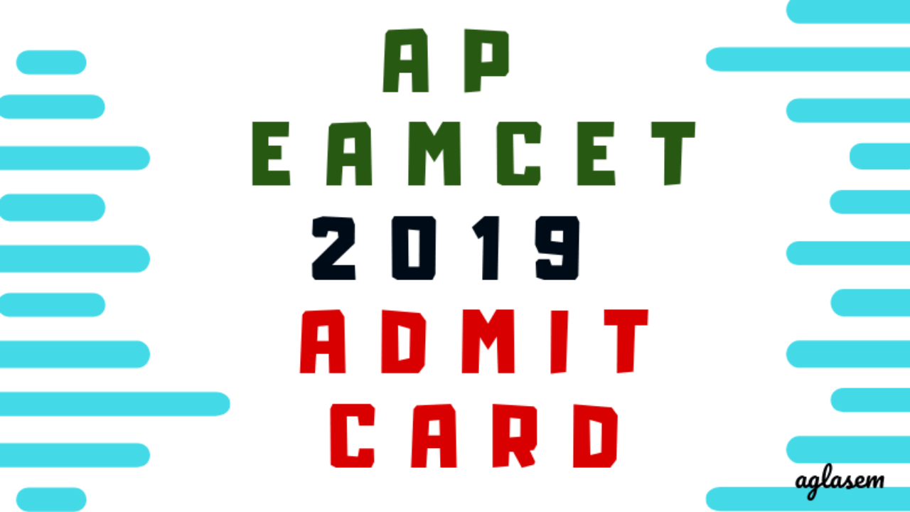 AP EAMCET 2019 Admit Card / Hall Ticket (Available)- Download Here
