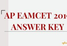 AP EAMCET 2019 Answer Key