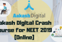 Aakash Digital Crash Course for NEET 2019