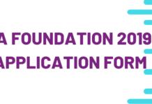 CA FOUNDATION 2019 APPLICATION FORM