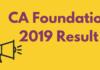 CA Foundation 2019 Result