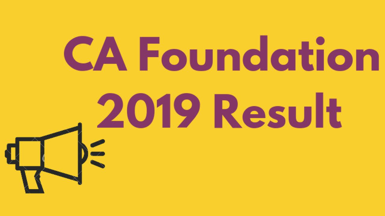 CA Foundation 2019 Result - Check Merit List for May Exam | AglaSem