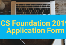CS Foundation 2019 Application Form-