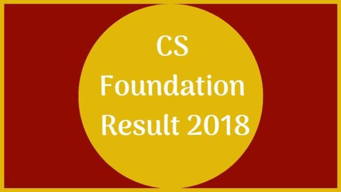 CS Foundation Result 2018