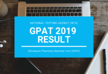 GPAT 2019 Result