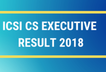 ICSI CS EXECUTIVE RESULT 2018