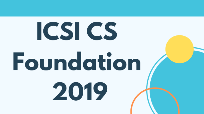 ICSI CS Foundation 2019
