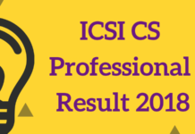 ICSI CS Professional Result 2018