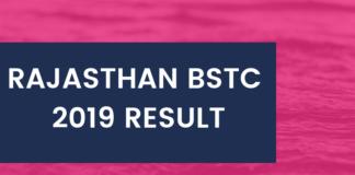 Rajasthan BSTC 2019 Result