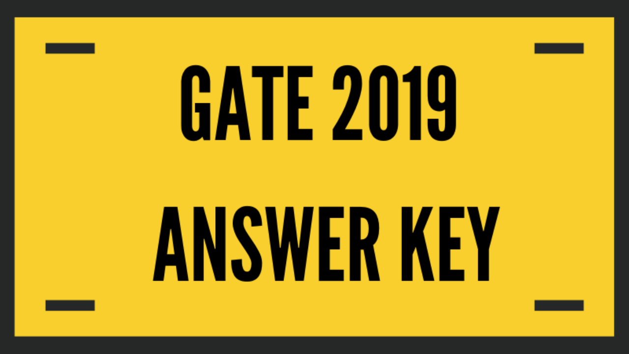 GATE 2019 Metallurgical Engineering (MT) Answer Key with Question