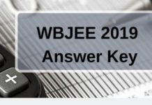 WBJEE 2019 Answer Key