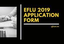 EFLU 2019 Application Form