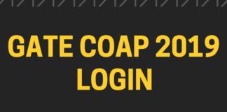 GATE COAP 2019 Login