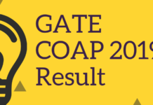 GATE COAP 2019 Result