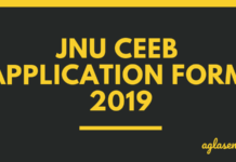 JNU CEEB Application Form 2019