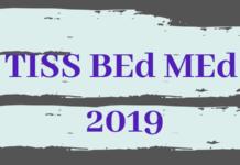 TISS BEd MEd 2019
