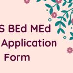 TISS BEd MEd 2019 Application Form