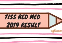 TISS BEd MEd 2019 Result