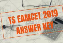 TS EAMCET 2019 ANSWER KEY
