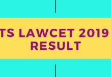 TS LAWCET 2019 Result