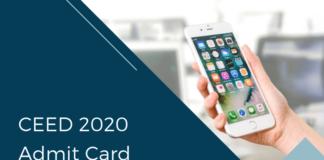 CEED 2020 Admit Card