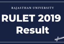 RULET 2019 Result